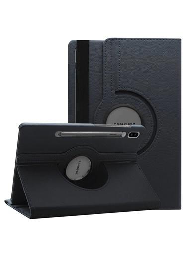 Microsonic Samsung Galaxy Tab S7 T870 Kılıf 360 Rotating Stand Deri Siyah